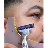BEARD SHAPING TOOL GuideLine Pro ( hair care product for men ) use with your Beard Trimmer, Razor or Edge w/ a Straight Razor. Shave a Symmetric Beard & Mustache Every Time.