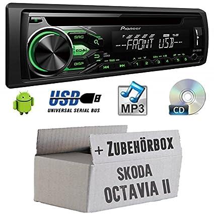 Skoda Octavia 21Z-Pioneer deh1800ubg-Kit de montage autoradio CD/MP3/USB -
