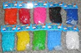COLORFUL LOOM BANDS LOT - 10 DIFFERENT COLOR PACKS - 6000 BANDS + CLIPS