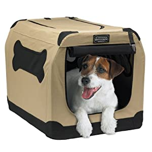 Firstrax Port-A-Crate E2 Indoor/Outdoor Pet Home, 24 Inches