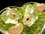 ★個!★天然水晶ウサギ彫り(中)★目はカーネリアンのかわいいウサギクリスタル