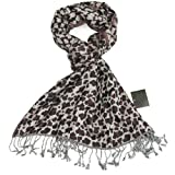 Women's Jacquard Leopard Print Scarf - Animal print leopard woven scarf for women - Pashmina