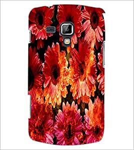 PrintDhaba Flowers D-2819 Back Case Cover for SAMSUNG GALAXY S DUOS 2 S7582 (Multi-Coloured)