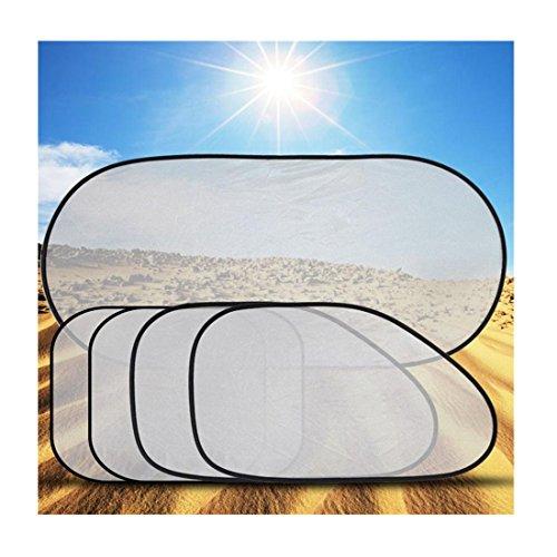 Iuhan Fashion 5 Pcs/Set Car Window Suction Cup Sun Visor Shade Curtain Mesh Sunshade Covers (Iron Man Sun Visor compare prices)