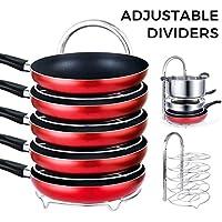 Lifewit Height 5-Tier Adjustable Pan Pot Organizer Rack