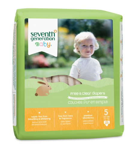 Seventh Generation Free and Clear Baby Diapers, Stage 5, 26 Count (Pack of 4) (7th Generation Stage 4 Diapers compare prices)