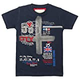 TONYBOY Boys Trendy Printed T-shirt (Navy)