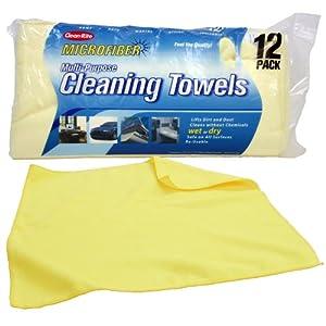 Clean-Rite Microfiber Cleaning Towels 12-pack