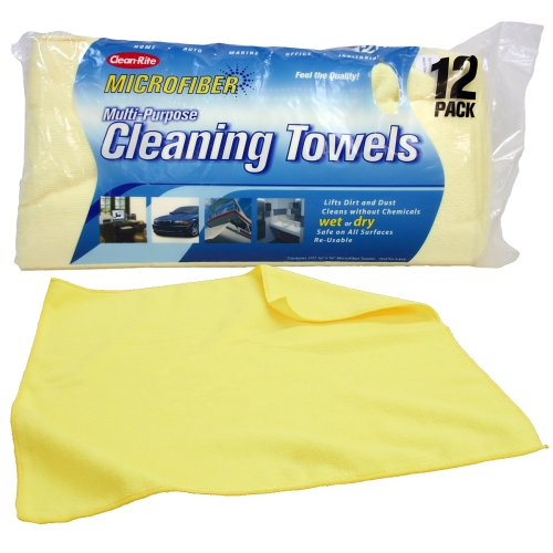 Clean-Rite Microfiber Cleaning Towels 12-pack