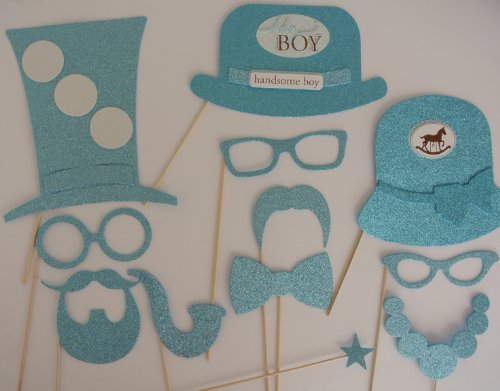Baby Shower Its a Boy 12 Pc Photo Booth Party Props Blue