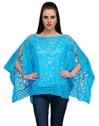 Kiosha Blue Color Cotton Shrugs for Women-KTVDA412_BLUE