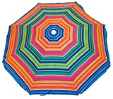 Rio Beach Deluxe Sunshade Umbrella with Valance (6-Feet, Sunset Stripe)