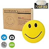 MVOWIZON Spy Cam with Mini Smiley Smile Face Button Pins with camera Spy Camera (Color: Yellow)