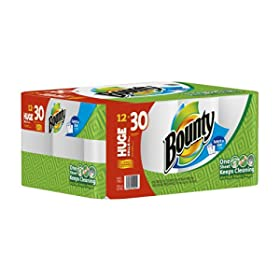 Bounty Huge Roll Select-A-Size, White
