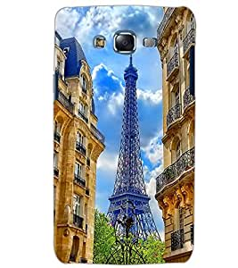 PrintDhaba EFFIEL TOWER D-6501 Back Case Cover for SAMSUNG GALAXY ON5 (Multi-Coloured)