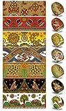Ukrainisches-Kunsthandwerk, Ostereier Schrumpffolie. Gold. Wohlstand und Glück. Nr.9 reicht für 7 Eier