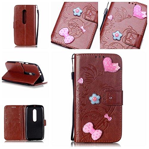 Cozy-Hut-HandyhlleLederhlle-Ledertasche-Hlle-Case-Cover-Etui-Tasche-fr-Motorola-Moto-G3-Hlle-Mit-Diamant-Schmetterling-Muster-Schutzhlle-Handyhlle-Taschen-Schalen-Handy-Tasche-Flip-Wallet-Stil-case-Le