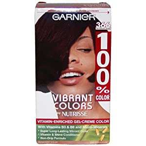 100% Color Vitamin Enriched Gel-Creme Color #366 Deep Burgundy Brown By Garnier for Unisex