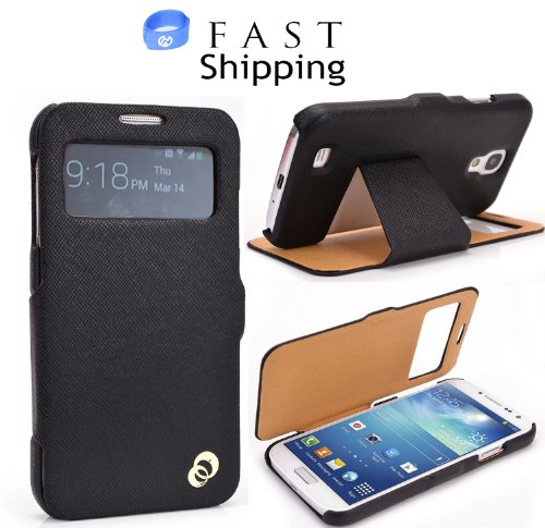 Metallic Black S-View Endevour Wrap Flip Cover