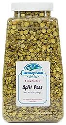 Harmony House Foods, True Dehydrated Split Peas, 22 Ounce Quart Size Jar