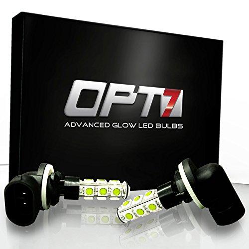Opt7® 881 Series Advanced Glow 13-Smd Led Fog Light Bulbs - 6000K Cool White - Plug-N-Play (Pack Of 2)