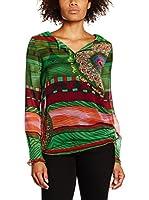 Desigual Blusa Lisa Rep (Verde)