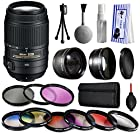 Nikon AF-S DX NIKKOR 55-300mm f/4.5-5.6G ED VR Lens 2197 with Premium Accessories Package includes 2.2x Telephoto Adapter + 0.43x Wide Angle Fisheye Adapter + 9 Piece Filter Kit + Extra Lens Cap + Dust Cleaning Care Kit + Gift $50 Gift Card for Nikon DF D7200 D7100 D7000 D5500 D5300 D5200 D5100 D5000 D3300 D3200 D3100 D3000 D300S D90 D60 DSLR SLR Digital Camera
