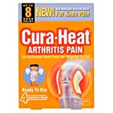 Cura Heat Arthritis Pain Knee - 4-Pack & 1 Wrap