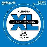 D'Addario ダダリオ ベース用バラ弦 ニッケル Long Scale .028 XLB028W 【国内正規品】
