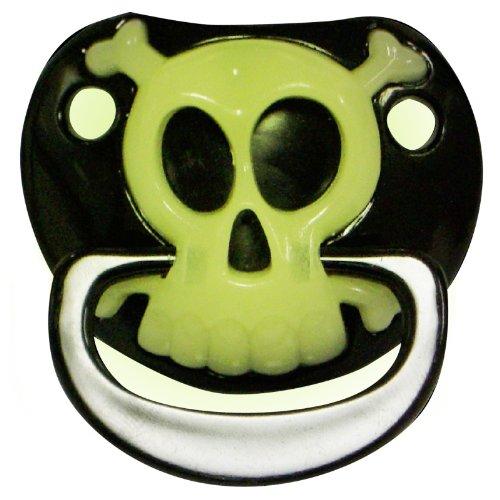 Billy Bob PIRATE skull & crossbones teeth BABY PACIFIER baby gag gift