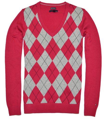 comparamus tommy hilfiger women 39 s logo v neck sweater. Black Bedroom Furniture Sets. Home Design Ideas