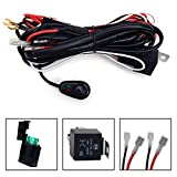 KAWELL® Universal 2 lead LED Light Bar Wiring Harness Kit with Fuse Relay ON / OFF Switch for LED Offroad Driving light LED lamp fog light work light ( 12V 40A waterproof )