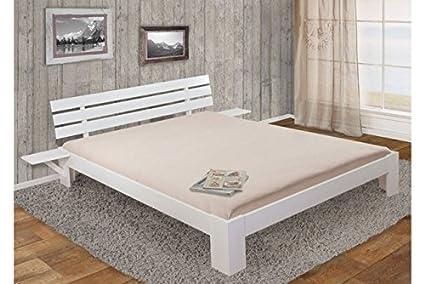 Bett 180x200 cm Kiefer weiß massivholz inklusive Lattenrost Doppelbett Ehebett