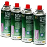 AUG14 4 X 250G BUTANE GAS CANISTERS