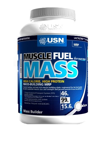 USN Muscle Fuel Mass 1000 g Strawberry Muscle and Mass Gain Shake Powder