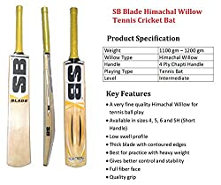SB Blade Himachal Willow Cricket Bat ( Size 4)