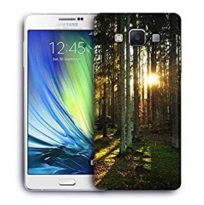 Snoogg Abstract Sunlight In Forest Designer Protective Phone Back Case Cover For Samsung Galaxy A7
