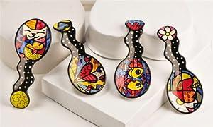 Romero Britto Spoon Rest in 4 Assorted Designs- 1 PER Order