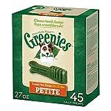 GREENIES Dental Dog Treats, Petite, Original Flavor, 45 Treats, 27 oz.