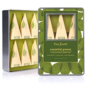 Tea Forte Medium Tin Sampler Collection - Essential Greens by Tea Forte