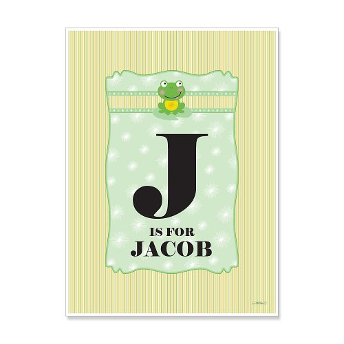 Froggy Frog - Personalized Birthday Party Poster Gift front-726914