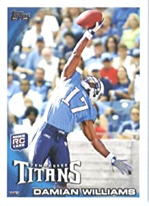 2010 Topps NFL Football Card # 72 Damian Williams RC - Tennessee Titans ( Rookie Card) NFL Trading Card in a Protective ScrewDown Case!