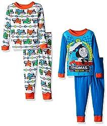 Thomas the Train Toddler Boys' Icon 4-Piece Pajama Set, Blue, 2T