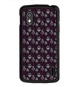 Fuson Premium 2D Back Case Cover Pattern of grapes and heart With Multi Background Degined For LG Google Nexus 4