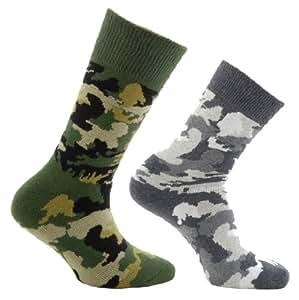 Horizon Jungen Socken, 2 Paar Camo Army/Arctic Size 91/2-12