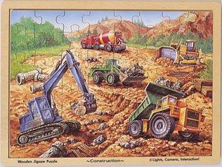 Cheap Melissa & Doug Construction Wooden Jigsaw Puzzle 48pc (B00000JBLE)