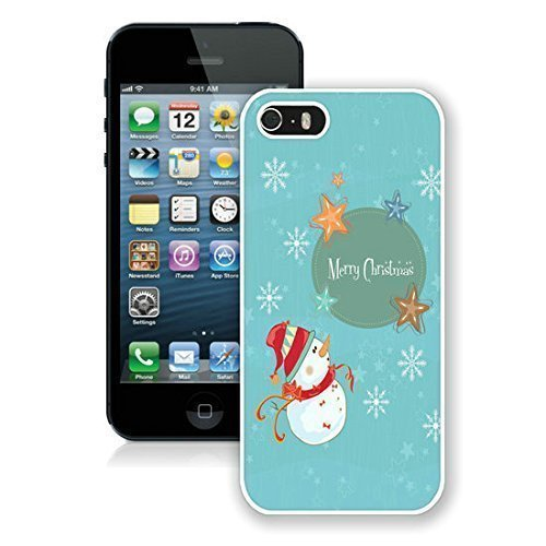 2015 Newest Iphone 5S Protective Case Merry Christmas iPhone 5 5S TPU Case 16 White