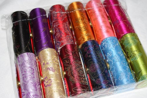 wholesale-12-various-colours-and-designs-silk-brocade-lipstick-holder-case-mirror-inside-for-conveni