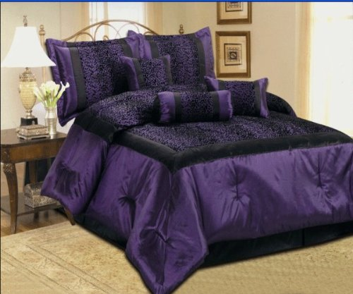 Purple Zebra Bedding front-211549