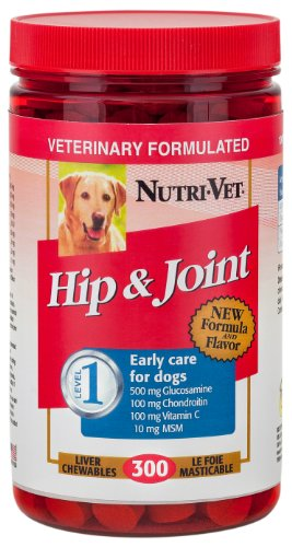 Nutri-Vet® Hip & Joint Level 1 Liver-Flavored Chewables For Dogs, 300Ct, Safety Sealed
